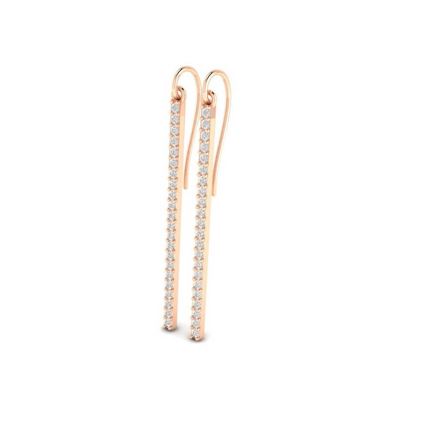 Straight Bar Diamond Earring