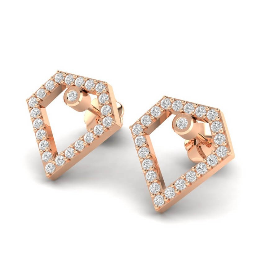 Morden Diamond Earrings