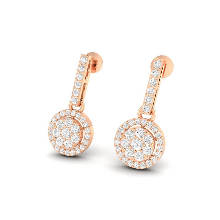 Classic Cluster Diamond Earrings