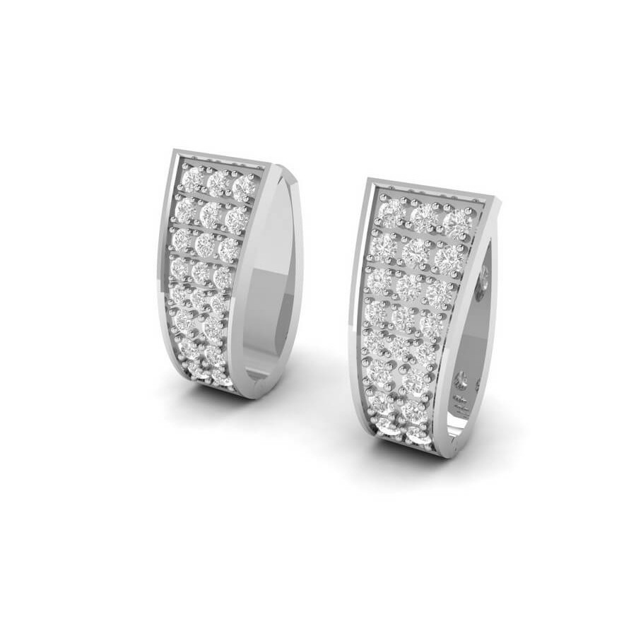 Curved Diamond Earrings