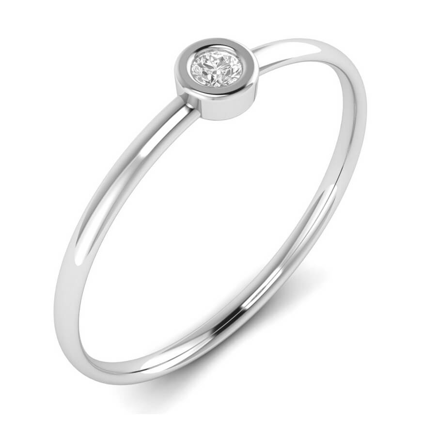 Single Bezel Diamond ring
