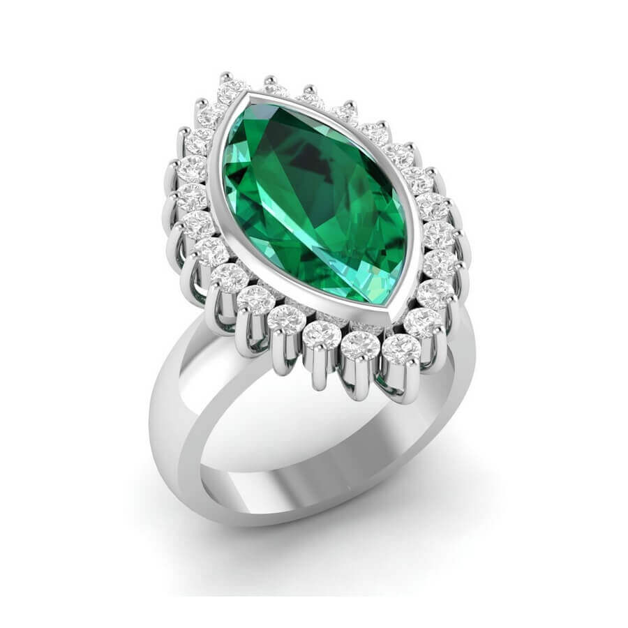 Liz Love Marquise Emerald Ring