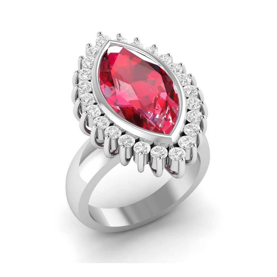Liz Love Marquise Ruby Ring