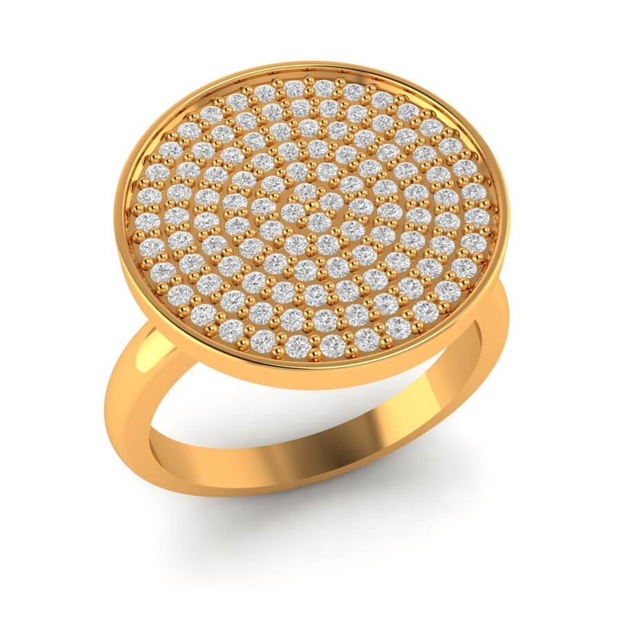 Basket Diamond Ring